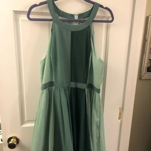 Gorgeous green high low dress